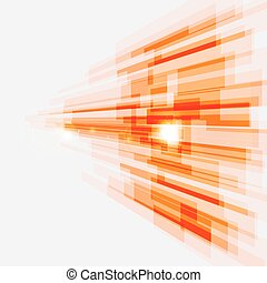 Perspective orange abstract straight lines background