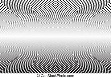 perspective., pattern., abstract, verminderen, geometrisch