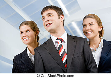Perspective people - Image of business group of three...
