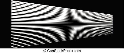 perspective., radiale, scoppio, diminuire, in via di scomparsa, angolo, lines., parallelo, zebrato, 3d, riga di arresto, striscie, linee orizzontali, horizon., diritto
