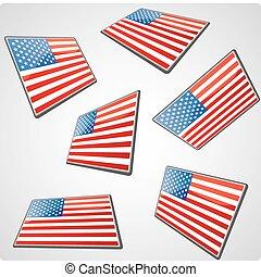 Perspective USA flag