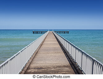 view of a wooden pier