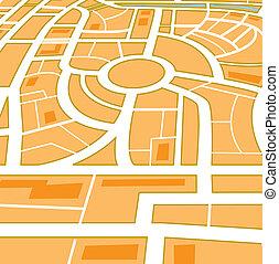 perspective., ville, résumé, carte