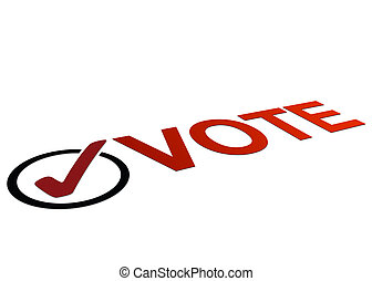 Perspective Vote Sign - High resolution perspective graphic...