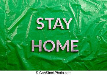 perspektive, silber, hintergrund, aufenthalt, gelegt, plastik, legen, grün, wohnung, zerknittert, metall, briefe, wörter, daheim