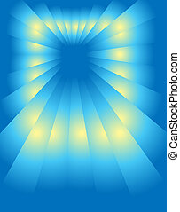 perspektivní, blue-yellow
