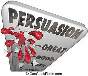 Persuasion Thermometer Measure Level of Convincing Influence