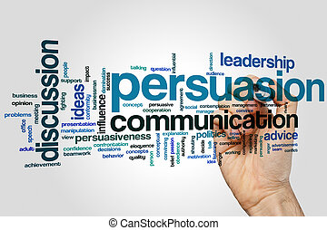 Persuasion word cloud - Persuasion concept word cloud...