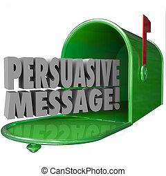 Persuasive Message Mailbox Convincing Influential Decisive...