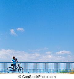 pertaining, ciclismo, cartel, advertisment, plano de fondo,...