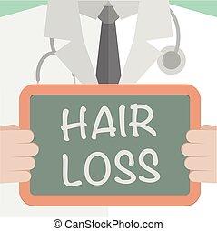 perte cheveux, monde médical, planche