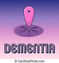 perte, concept, cognitif, texte, maladie, écriture, cerveau, signification, mémoire, écriture, fonctionnement, affaiblissement, dementia.