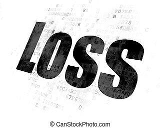 perte, concept:, fond, business, numérique