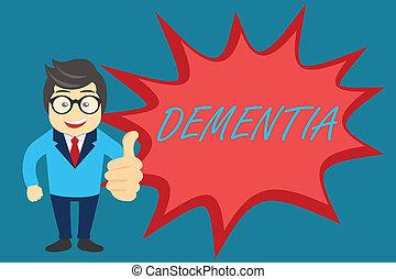 perte, concept, mot, cognitif, business, texte, maladie, écriture, cerveau, mémoire, fonctionnement, affaiblissement, dementia.