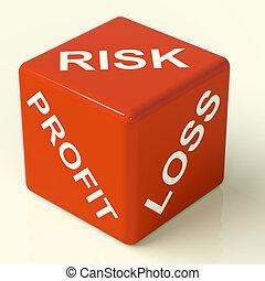 perte, dés, profit, projection, incertitude, risques, marché...