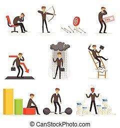 perte, ensemble, business, être, compagnie, directeur,...