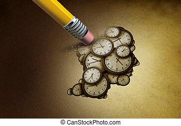 perte, planification, temps
