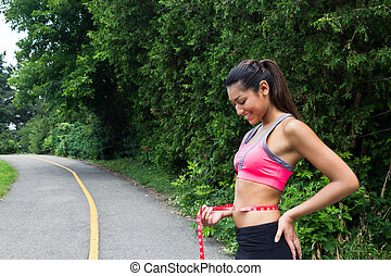perte, poids, fitness