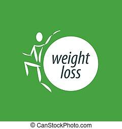 perte, poids, logo