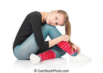 perte, poids, santé, fitness, care., sport, woman.
