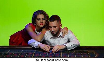perte, puces poker, tout, prîmes, table., revendeur
