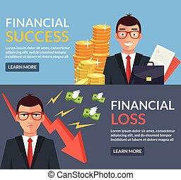 perte, succès financier