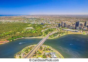 Perth Australia aerial