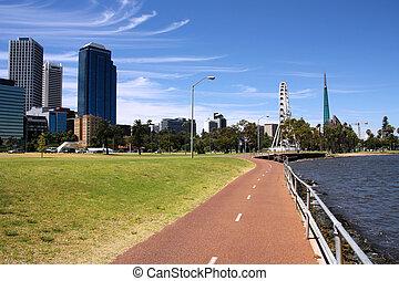 Perth, Australia - Perth, Western Australia. Bicycle route ...