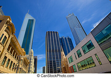 perth, australia, rascacielos, occidental