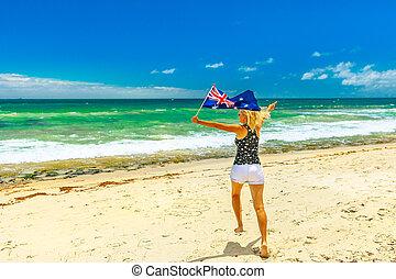 Perth beaches enjoying