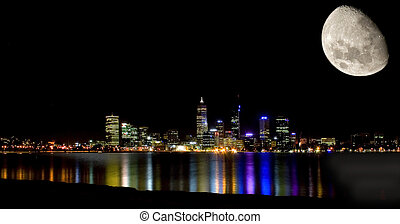 perth by moonlight -