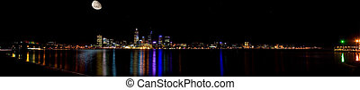 perth city at night- - large panorama