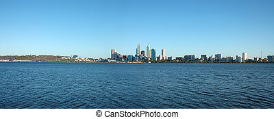 Perth City Skyline - Perth City as seen from the southern ...