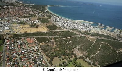 Perth Coogee Scenic Flight - Aerial view of Coogee suburb of...
