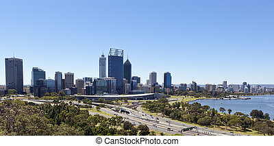 Perth from King's Park - Perth, Western Australia, viewed ...