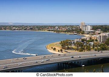 Perth - Swan River bridge