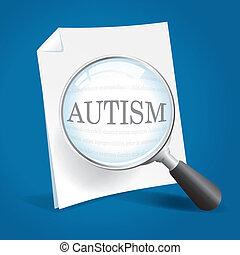 perto, levando, olhar, autism