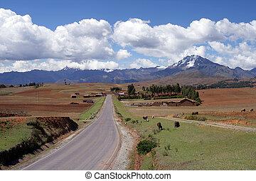 Peru Countryside - View of the peruvian countryside not far...