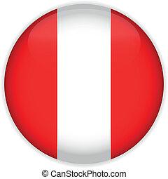Peru Flag Glossy Button
