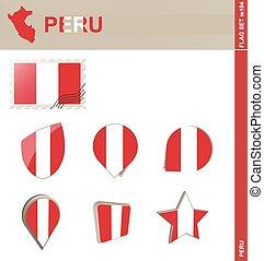 Peru Flag Set, Flag Set