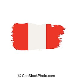 Peru flag, vector illustration on a white background