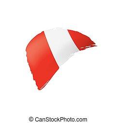 Peru flag, vector illustration on a white background. - Peru...