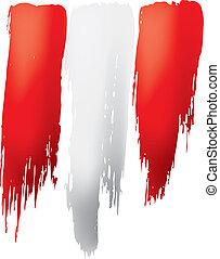 Peru flag, vector illustration on a white background.