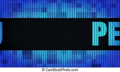 PERU Front Text Scrolling LED Wall Pannel Display Sign Board...