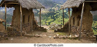 peru, heilig, incas, raqay, -, qantus, vallei