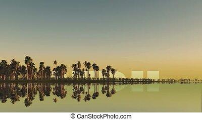 peru inscription behind palm trees