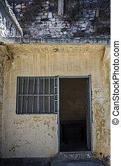 peru, Janela, histórico, abandonado, prisão