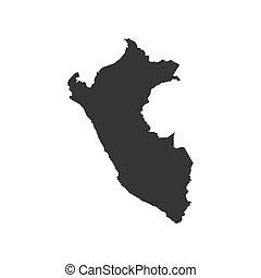 Peru map silhouette