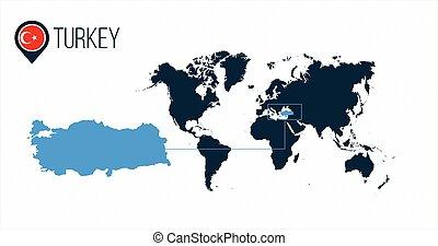 peru, mapa, tudo, vetorial, alfinete, países, tirado, ou, infographics., ilustração, sem, experiência., bandeira, marker., localização, names., mundo, redondo