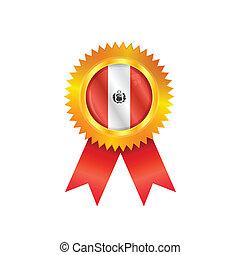 Peru medal flag